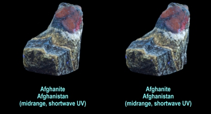 Afghanite - Afghanistan (shortwave, midwave UV)
