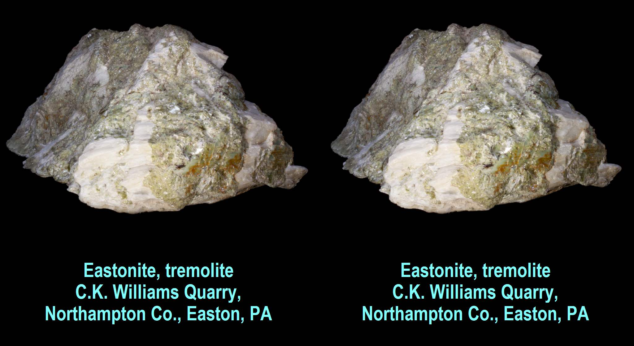 Eastonite, tremolite - C.K. Williams Quarry,Northampton County, Easton, PA