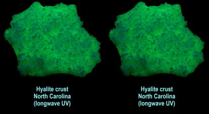Hyalite crust - North Carolina (longwave UV)