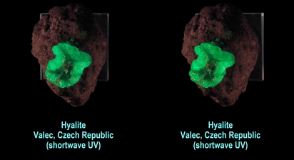 Hyalite - Valec, Czech Republic (shortwave UV)