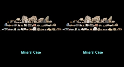 Mineral case under white light