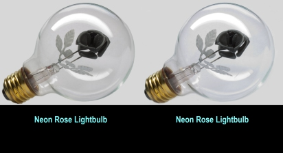 Neon Rose lightbulb
